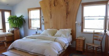 Reclaimed Slab Wood: A Bed To Really Help You Sleep At Night