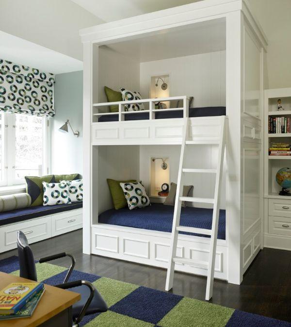 bunk bed tower unique design white idea