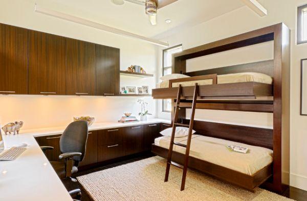 sleek modern fold away bunk bed inspiration
