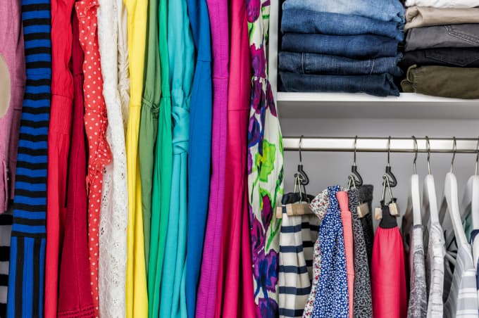 clothes categorized by color