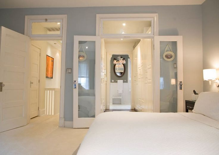 6 tips to create a unified master bedroom design for Closet bathroom suites
