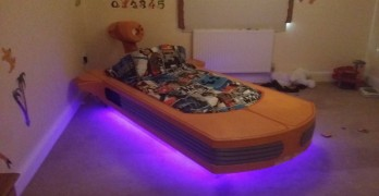 Coolest Dad Builds Floating Star Wars Bed