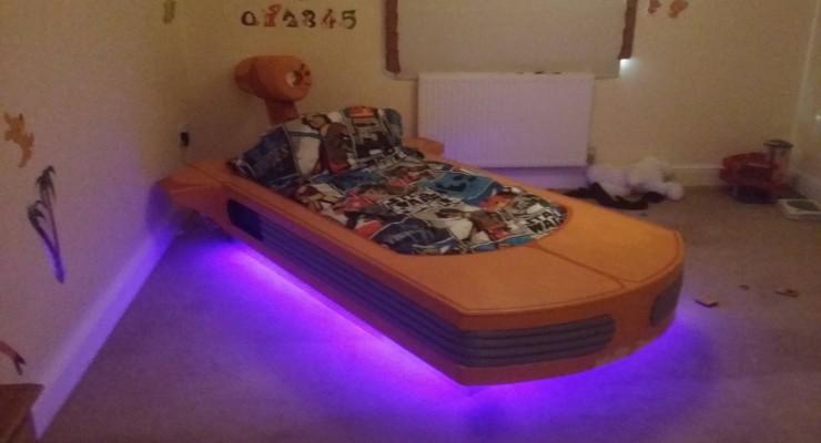 Coolest Dad Builds Floating Star Wars Bed